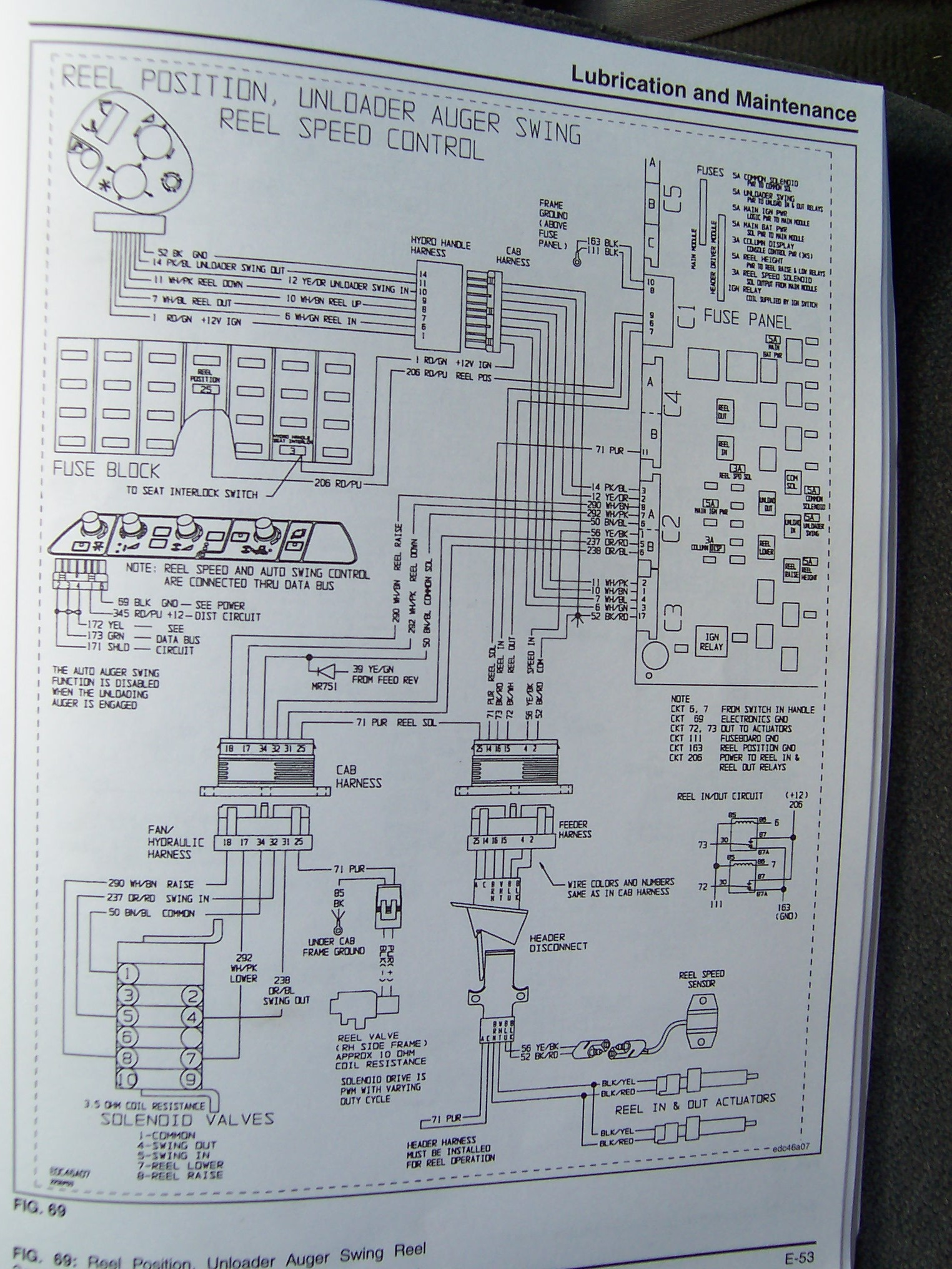 Wiring diagram for Automatic Header Height - 93' and up R65 or R75 | The  Combine ForumThe Combine Forum