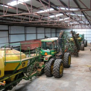 2 JD air seeders, 36' & 44'