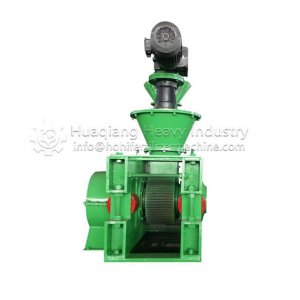Hydraulic Roller Granulator for fertilizer powder granulation manufacturing. https://www.organic-fertilizer-machinery.com/fertilizer-granulator-machin